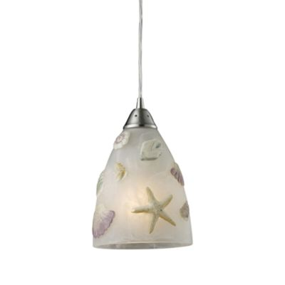 ELK Lighting Seashore 1-Light Pendant Satin Nickel