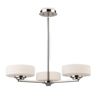 ELK Lighting Sousa 3-Light Chandelier in Polished Nickel