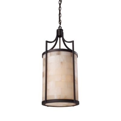 ELK Lighting Spanish Mosaic 3-Light Pendant in Age Bronze