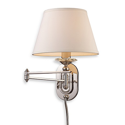 ELK Lighting Swingarm 1-Light Sconce in Polished Nickel