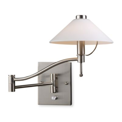 ELK Lighting Swingarm 1-Light Sconce in Satin Nickel