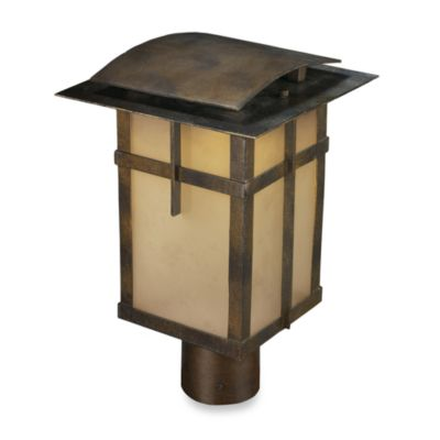 ELK Lighting San Fernando 1-Light Outdoor Post in Hazelnut Bronze