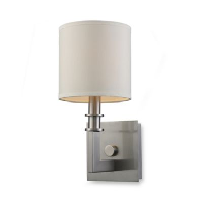 ELK Lighting Trump Home™ Seven Springs 1-Light Sconce in Satin Nickel