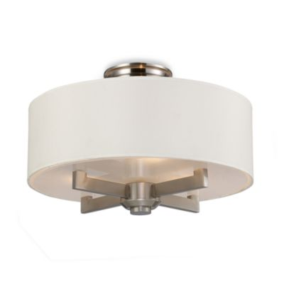 ELK Lighting Trump Home™ Seven Springs 3-Light Semi-Flush Ceiling Lamp in Satin Nickel
