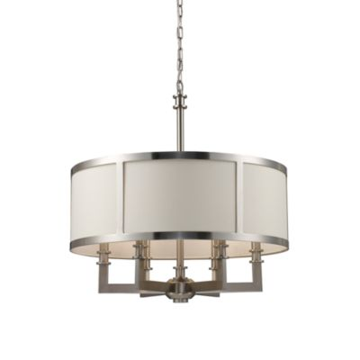 ELK Lighting Trump Home™ Seven Springs 6-Light Drum Chandelier in Satin Nickel