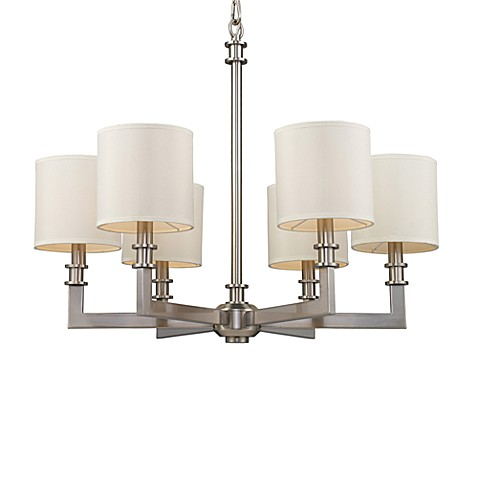 ELK Lighting Trump Home™ Seven Springs 6-Light Chandelier in Satin Nickel