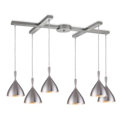 ELK Lighting Spun Aluminum 6-Light Pendant in Aluminum