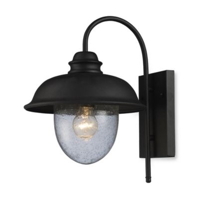 ELK Lighting Streetside Cafe 1-Light Medium Outdoor Sconce in Matte Black