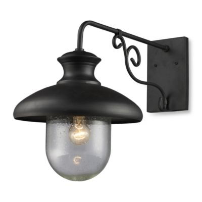 ELK Lighting Streetside Cafe 1-Light Large Outdoor Sconce in Matte Black
