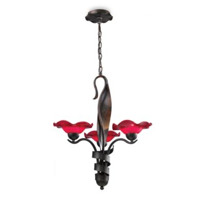 ELK Lighting Villa 3-Light Chandelier in Rust/Cherry
