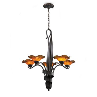 ELK Lighting Villa 5-Light Chandelier in Rust/Amber