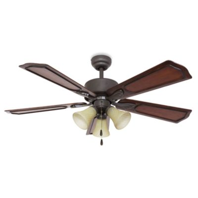 52-Inch Berkshire 3-Light Bronze Ceiling Fan