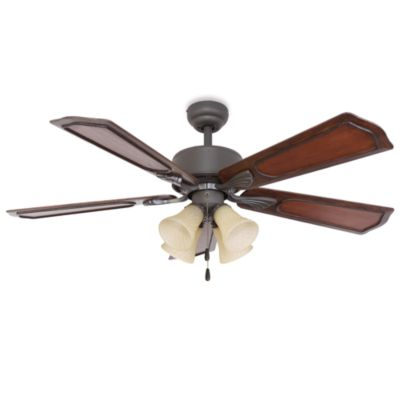 Berkshire 52-Inch 4-Light Ceiling Fan in Bronze