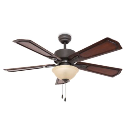 52-Inch Berkshire Bowl Light Bronze Ceiling Fan