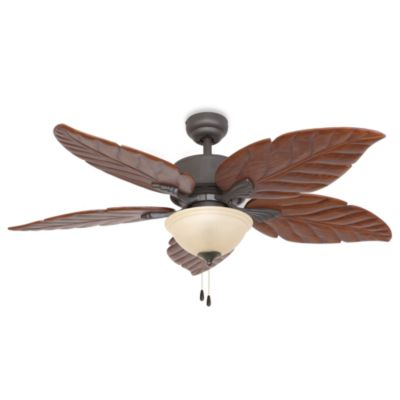 52-Inch Tortuga Bowl Light Bronze Ceiling Fan