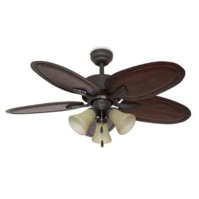 52-Inch Punta Cana 3-Light Bronze Ceiling Fan