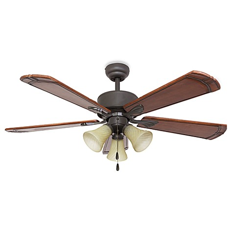 52-Inch Westmont 3-Light Bronze Ceiling Fan