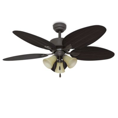 52-Inch Boca Grande 3-Light Bronze Ceiling Fan