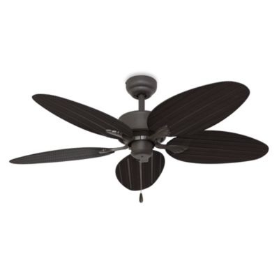 52-Inch Palm Clay Ceiling Fan