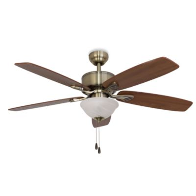 52-Inch Philmont Bowl Light Aged Brass Ceiling Fan