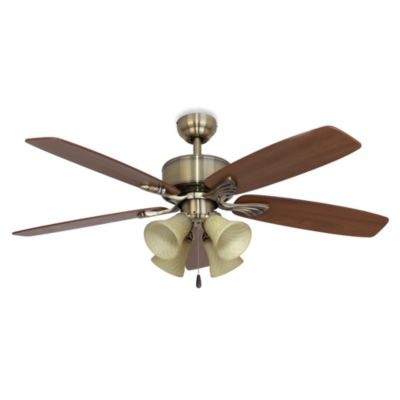 52-Inch Philmont 4-Light Aged Brass Ceiling Fan