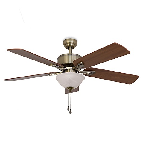 52-Inch Northbrook Bowl Light Aged Brass Ceiling Fan