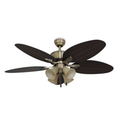 52-Inch Boca Grande 4-Light Aged Brass Ceiling Fan