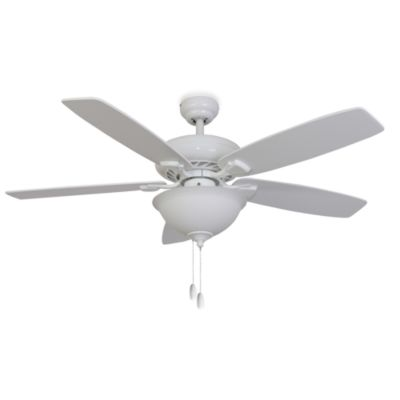 52-Inch Fells Point Bowl Light White Ceiling Fan