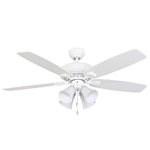 52 Inch Fells Point 4 Light White Ceiling Fan