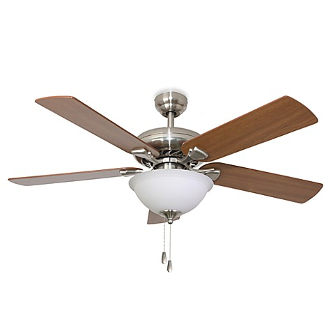 52-Inch Federal Hill Bowl Light Brushed Nickel Ceiling Fan