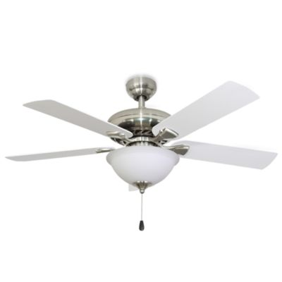 52-Inch Federal Hill Bowl-Light Brushed Nickel Ceiling Fan