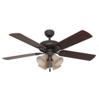 Federal Hill 52-Inch 4-Light Ceiling Fan in Bronze