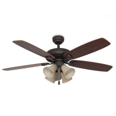 Fells Point 52-Inch 4-Light Ceiling Fan in Bronze