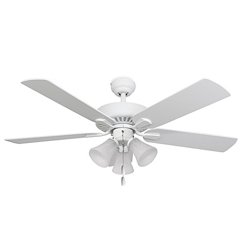 Cordova 52-Inch 3-Light White Ceiling Fan