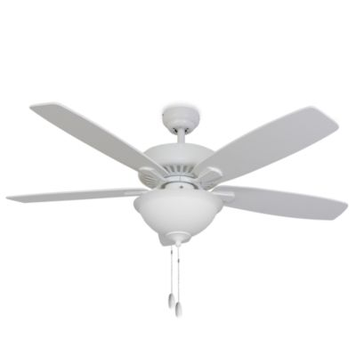 52-Inch Barclay Bowl Light White Ceiling Fan