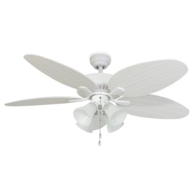 Palm Harbor Collection 52-Inch Coconut Grove 4-Light White Ceiling Fan