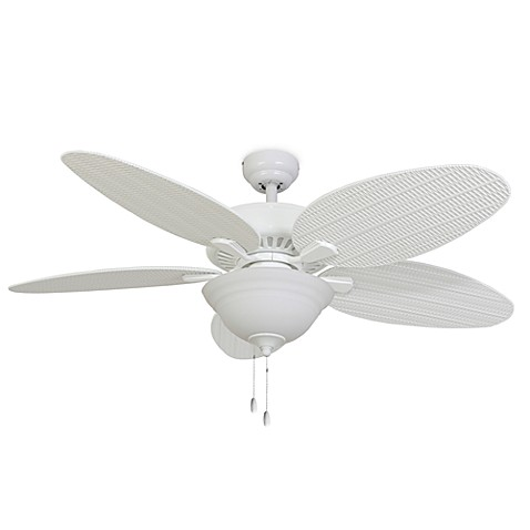 52-Inch Coconut Grove Bowl Light White Ceiling Fan
