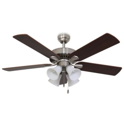 Cordova 52-Inch 4-Light Brushed Nickel Ceiling Fan