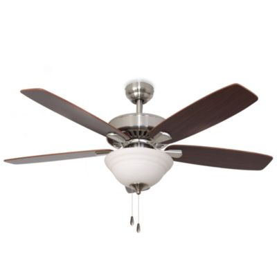52-Inch Barclay Bowl Light Brushed Nickel Ceiling Fan