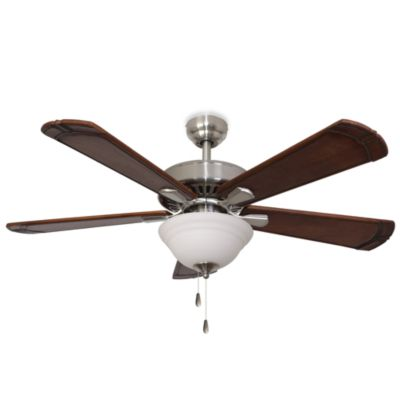 52-Inch Marston Bowl Light Brushed Nickel Ceiling Fan
