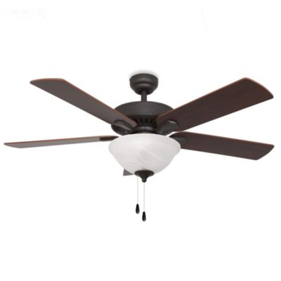 Cordova 52-Inch Bowl Light Ceiling Fan in Bronze