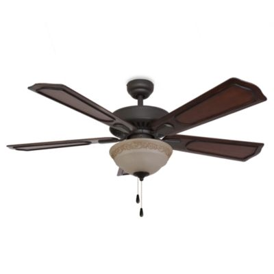 52-Inch Sheffield Bowl Light Bronze Ceiling Fan