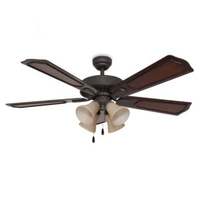 Bristol 4-Light 52-Inch Ceiling Fan in Bronze