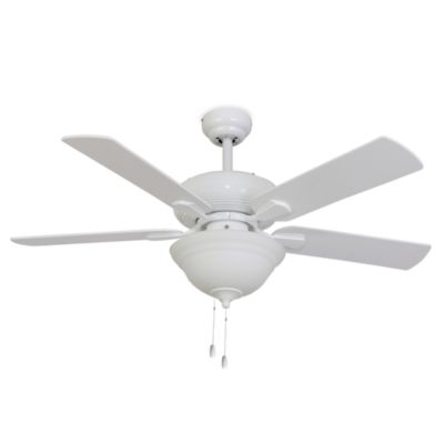 Palm Harbor 42-Inch Abbington Bowl Light White Ceiling Fan