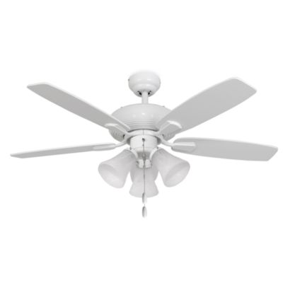 Palm Harbor 42-Inch Dorset 3-Light White Ceiling Fan