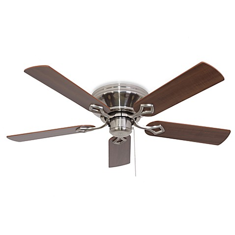 52-Inch Hampshire Low Profile Brushed Nickel Ceiling Fan