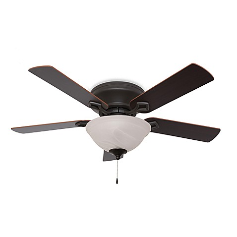 52-Inch Hampshire Bowl Light Low Profile Bronze Fan