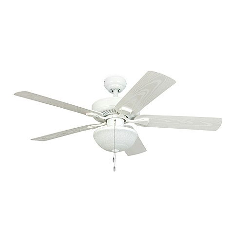 52-Inch Halifax White Outdoor Ceiling Fan with Light Kit