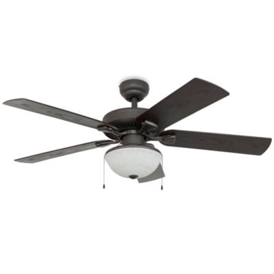52-Inch Halifax Outdoor Bronze Ceiling Fan with Light Kit