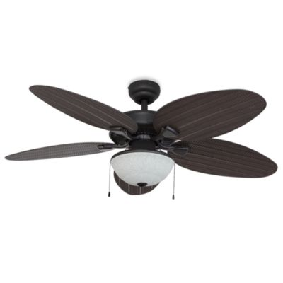 52-Inch Hawks Cay Outdoor Bronze Ceiling Fan with Light Kit